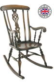 Farmhouse Scroll Arm Rocking Chair
