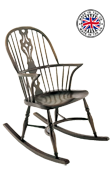 Georgian Double Bow Rocker Chair