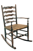 West Midlands Wavy Back Rocker Chair