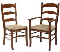 French Style Ladder Back Dining Chair