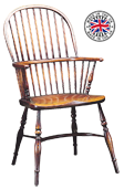 Spindle Back Windsor Chair With Turned Stumps