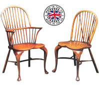 Cabriole Leg Stickback Windsor Chair