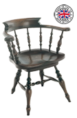 Swivelling Smokers Bow windsor Armchair